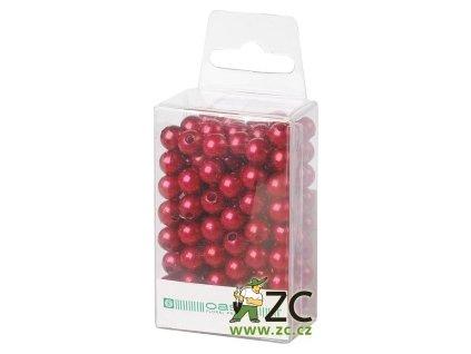 Dekorační perly 8mm (144ks) - tmavě červené