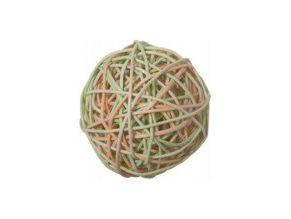 Koule aranžovací proutěná 6cm (6ks) - oranžová a zelená