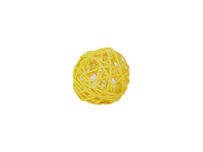Koule aranžovací ratanová 6cm - sv. žlutá
