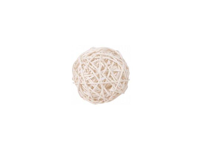 Koule aranžovací ratanová 8cm - bílá