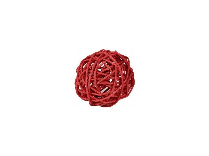 Koule aranžovací ratanová 8cm - červená