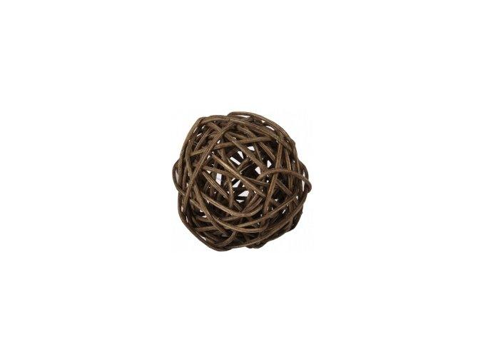 Koule aranžovací ratanová 8cm - hnědá
