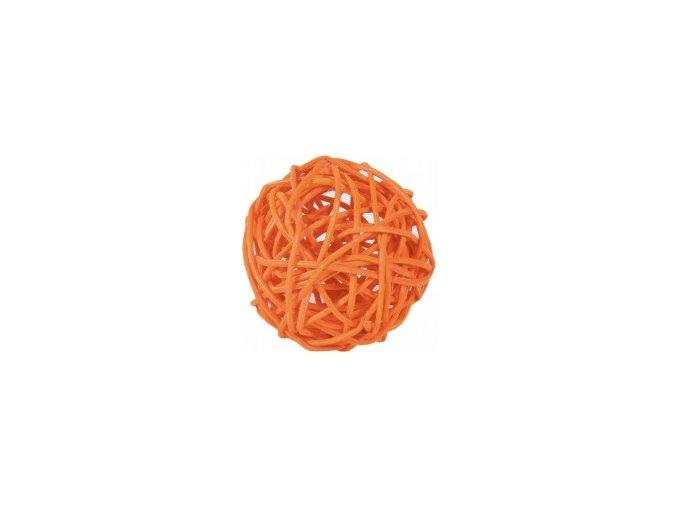 Koule aranžovací ratanová 8cm - oranžová