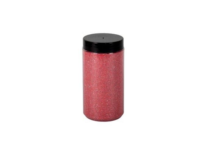 Písek Briliant dekorační 600g - červený