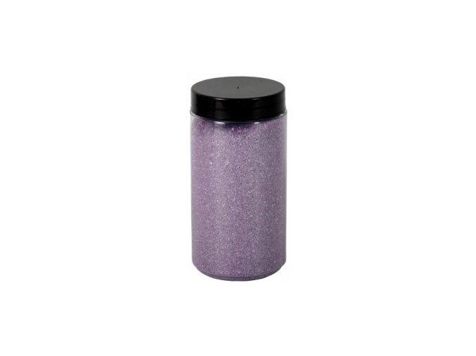 Písek Briliant dekorační 600g - sv. fialový