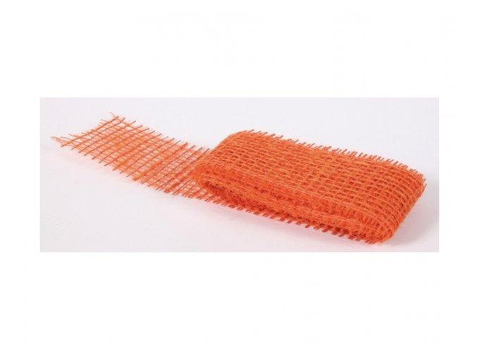 Stuha JUTA oranžová šířka 5cm délka 2m