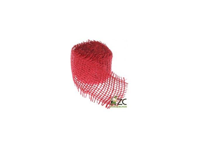 Jutová stuha 4cm x 3m - červená