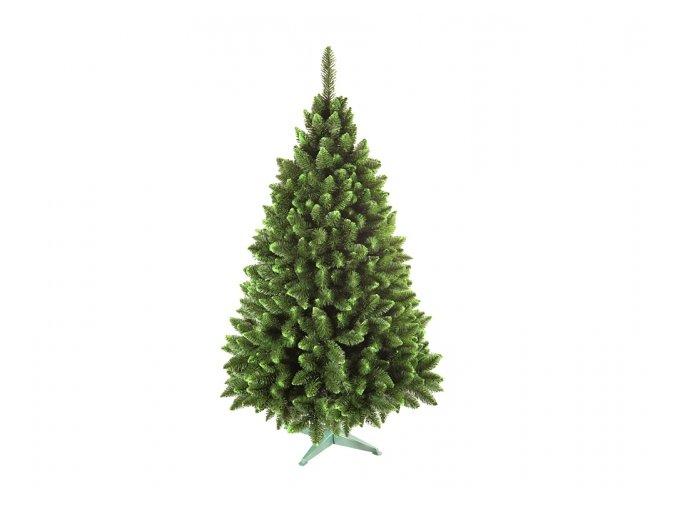 Stromek JEDLE umělý vánoční se zelenými konci + stojan 160cm