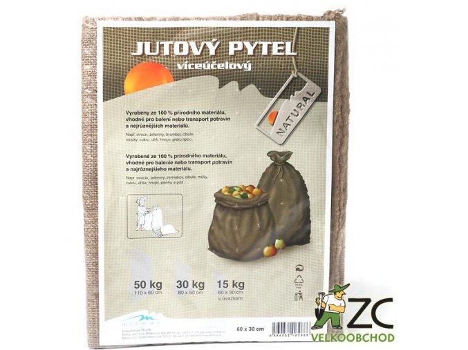 Jutový pytel 15 kg s úvazkem (30x60 cm)