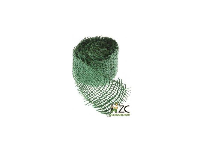 Jutová stuha 4cm x 3m - tmavě zelená