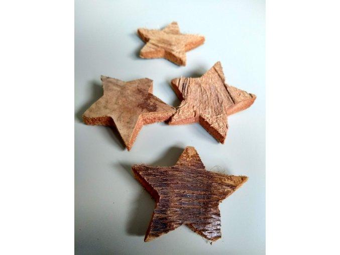 Kokosová hvězda natur 3ks