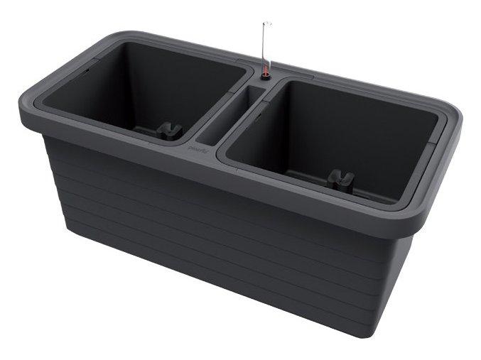 Truhlík samozavlažovací Berberis Duo - antracit 80cm