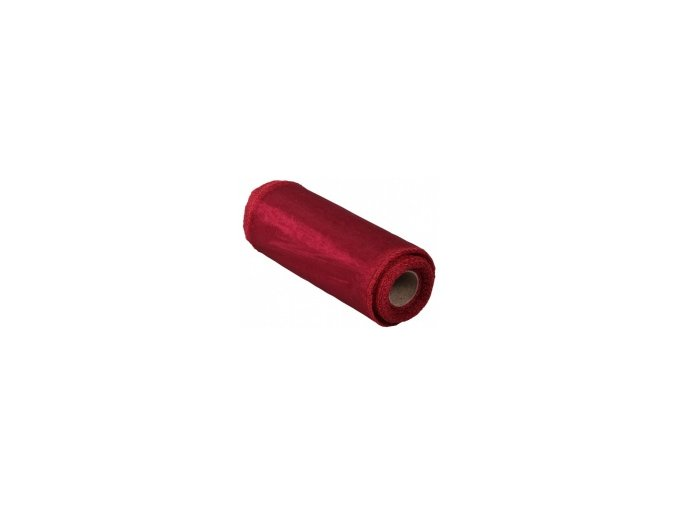 Stuha Organza obšitá 15cm x 9m - tm. červená