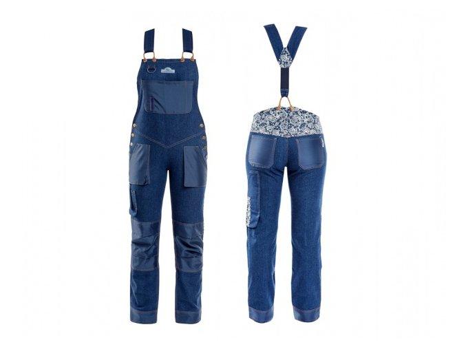 45302 kalhoty garden girl denim laclace velikost 34 xs
