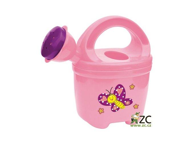 42620 detska konvicka plastova ruzova stocker