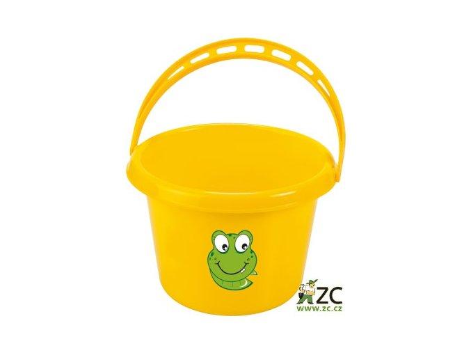 42707 detsky kyblik plastovy zluty stocker