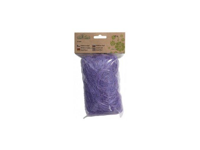 Sisálové vlákno 25g - světle fialové
