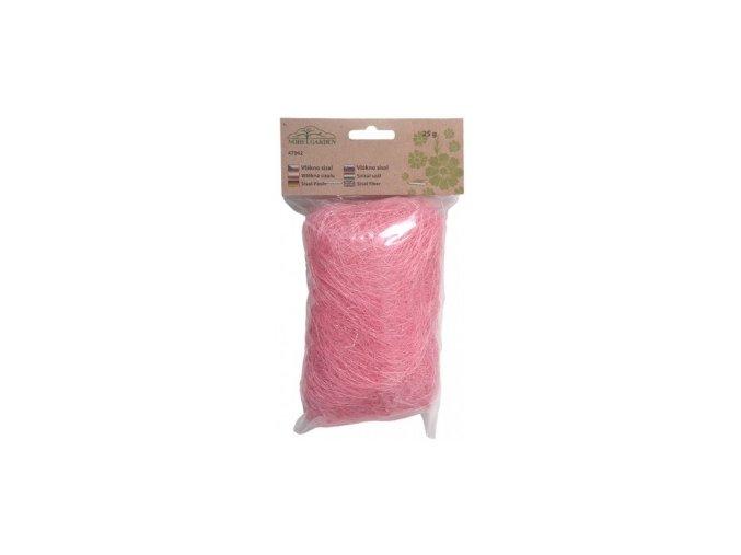 Sisálové vlákno 25g - světle růžové