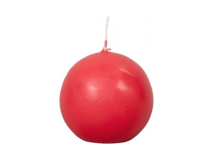 56570 svicka koule matna 4ks cervena