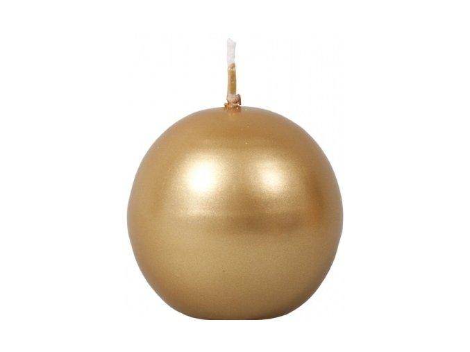 56582 svicka koule metalicka 4ks zlata
