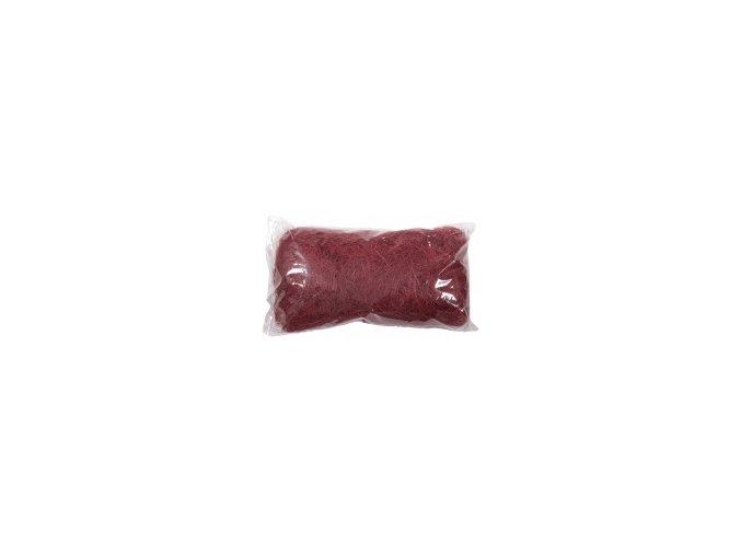 Sisálové vlákno 50g - bordó
