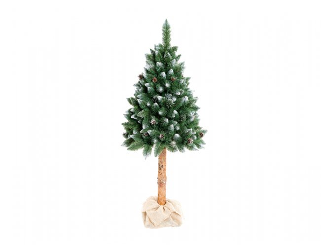 Stromek BOROVICE umělý + šišky a stříbrné konce+kmen 160cm