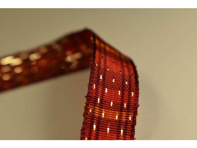 Stuha červená kostka 1,5 cm x 2,5 m