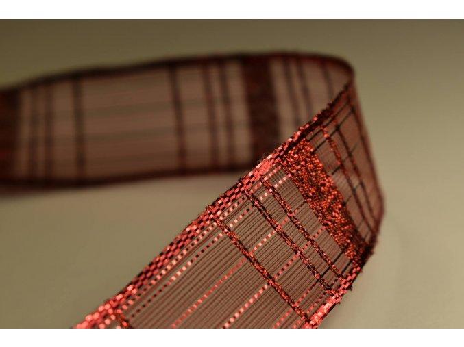 Stuha červená kostka 2,5 cm x 2,5 m