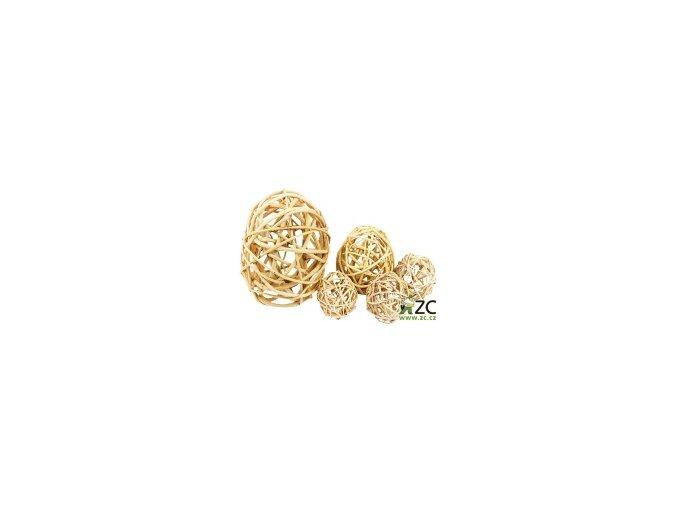 Dekorace - Lata Ball 2cm 10ks - přírodní