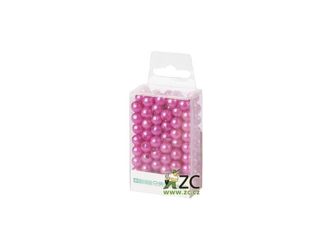 Dekorační perly 8mm (144ks) - světle fialové