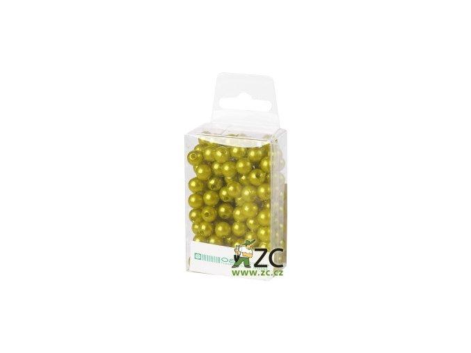 Dekorační perly 8mm (144ks) - světle zelené