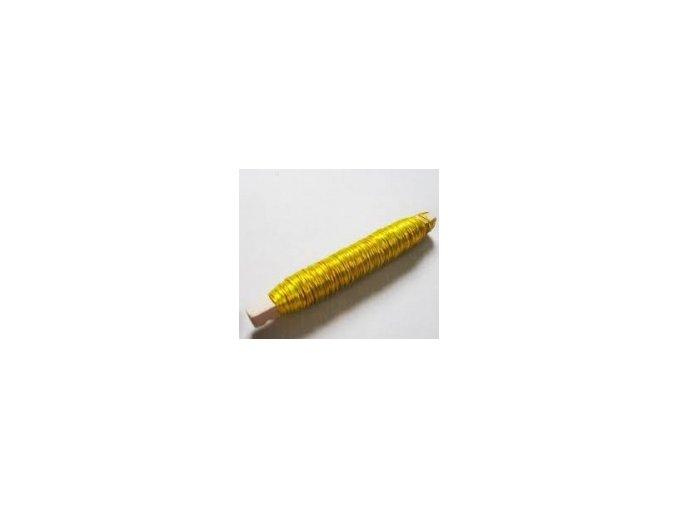 Drát měděný - 0,5mm x 100g - zlatý