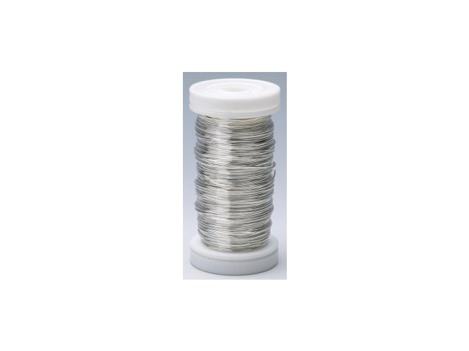 Drát dekorační měděný 0,3mm x 50g - stříbrný