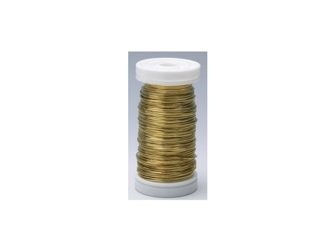 Drát dekorační měděný 0,3mm x 50g - zlatý