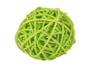 Koule aranžovací ratanová 6cm - sv. zelená