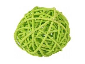 Koule aranžovací ratanová 8cm - sv. zelená