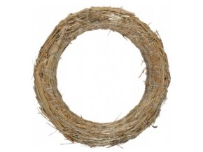 Kroužek slaměný - 20cm -10ks
