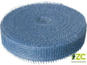 Jutová stuha 4cm x 25m - světle modrá
