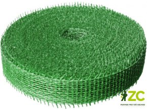 Jutová stuha 4cm x 25m - světle zelená