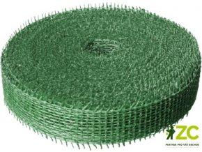 Jutová stuha 4cm x 25m - tmavě zelená