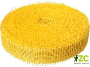 Jutová stuha 4cm x 25m - žlutá