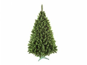 Stromek JEDLE umělý vánoční se zelenými konci + stojan 180cm