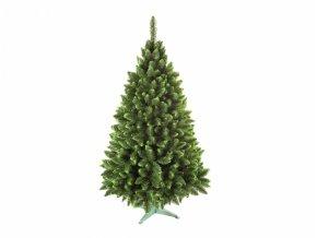 Stromek JEDLE umělý vánoční se zelenými konci + stojan 220cm