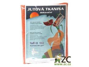 Jutová tkanina 1,3x1m - oranžová