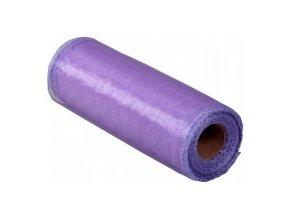 Stuha Organza obšitá 15cm x 9m - fialová
