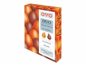 Barva na vajíčka OVO DUO oranžová a hnědá 2x20ml