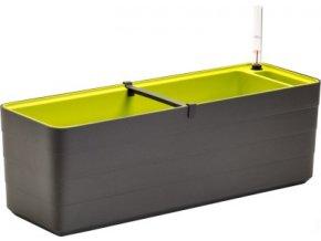 Truhlík samozavlažovací Berberis - antracit + zelená 80 cm