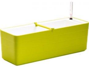 Truhlík samozavlažovací Berberis - zelená + bílá 80 cm