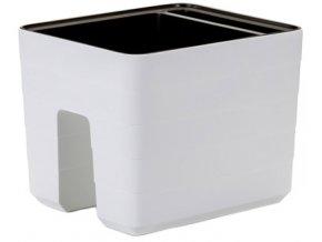 Truhlík samozavlažovací Berberis na zábradlí - bílá 30 cm