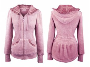 48482 mikina teddy garden girl classic pink fleecova s